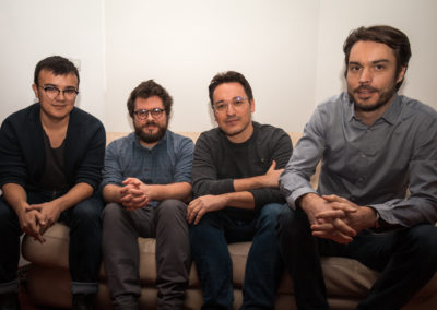 Mathias, Charles, Patrick Baud et Thomas Bry (Photo : Oli Quil / Riviera Ferraille)